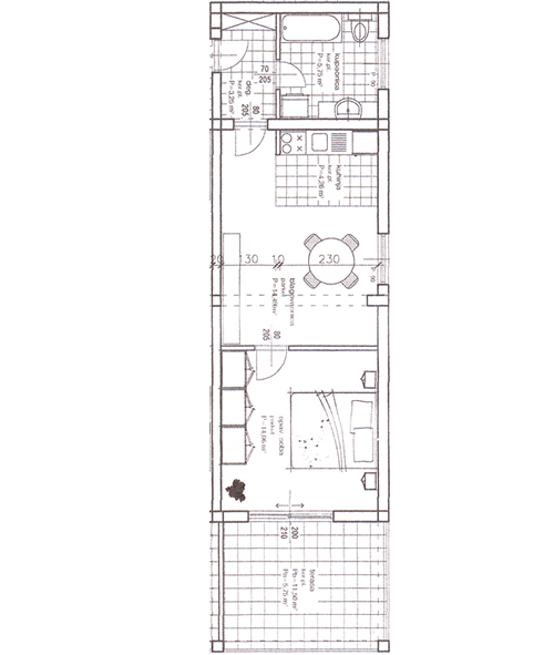 Apartment - A1 Ground-plan